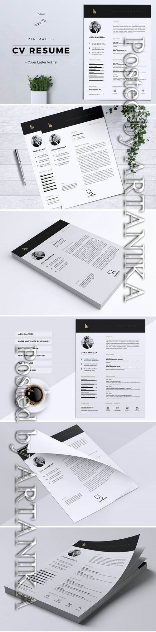 Minimalist CV Resume Vol. 19