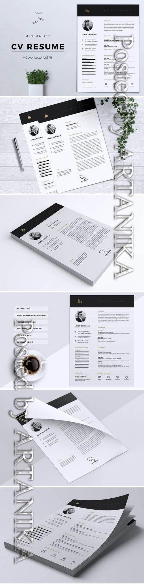 Minimalist CV Resume Vol. 19