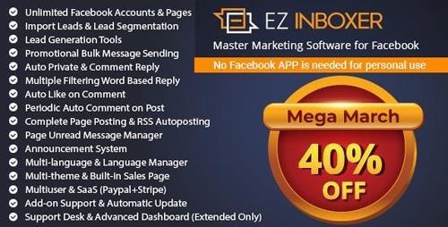 CodeCanyon - EZ Inboxer v7.0.2 - Master Marketing Software for Facebook - 19578006 - NULLED