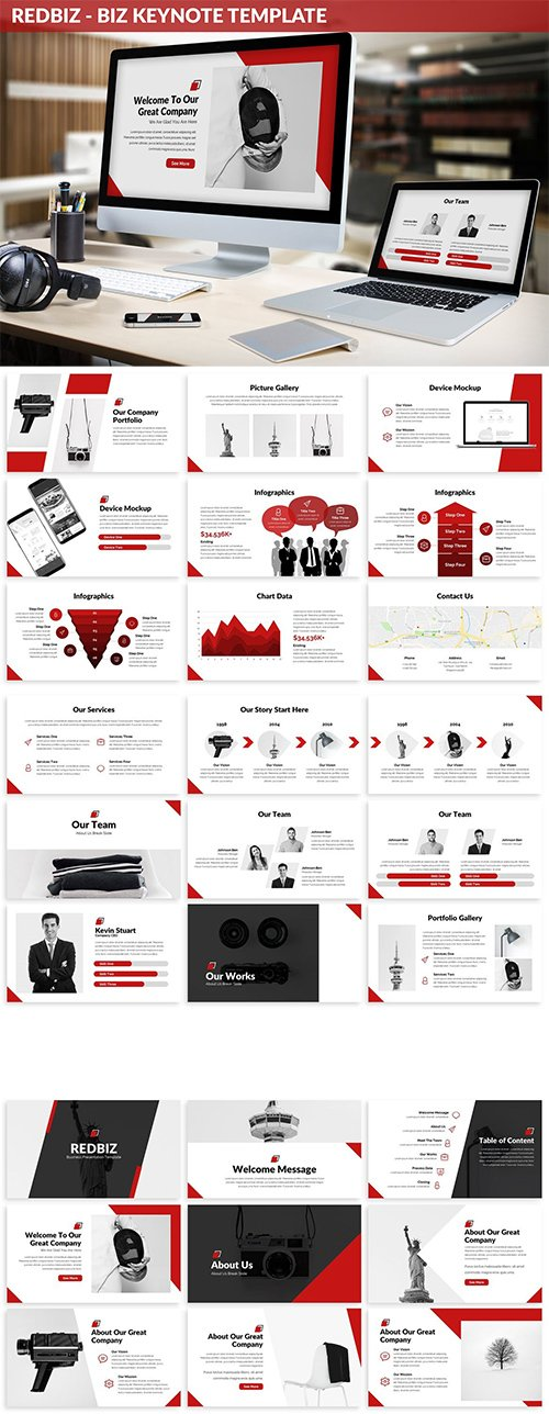 Redbiz - Biz Keynote Presentation Template