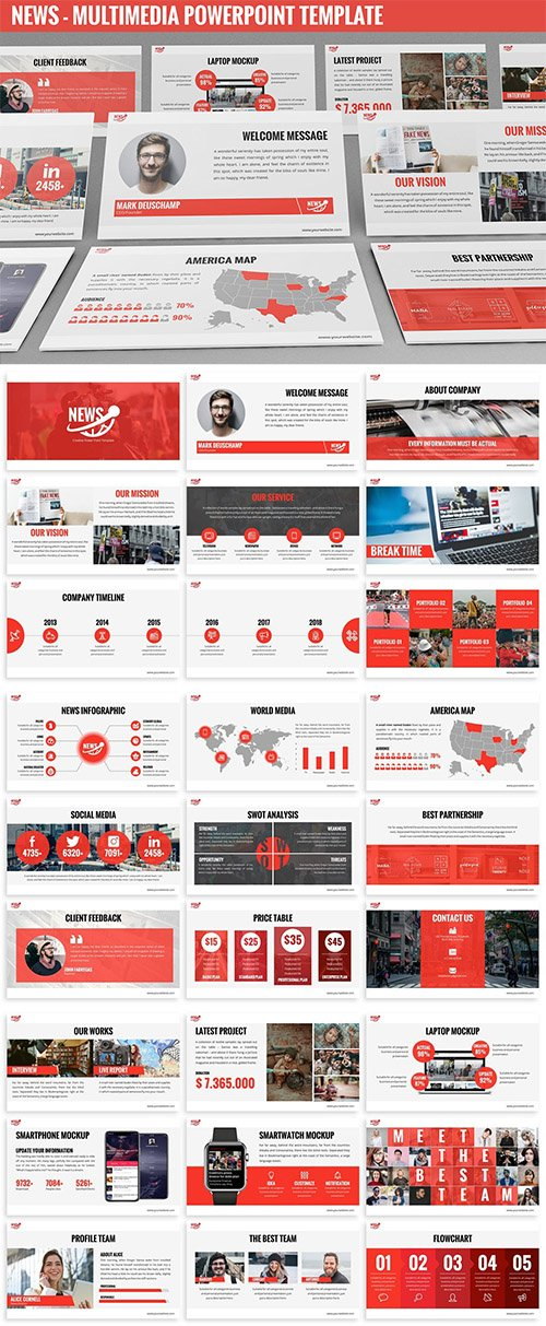 News - Multimedia Powerpoint Template