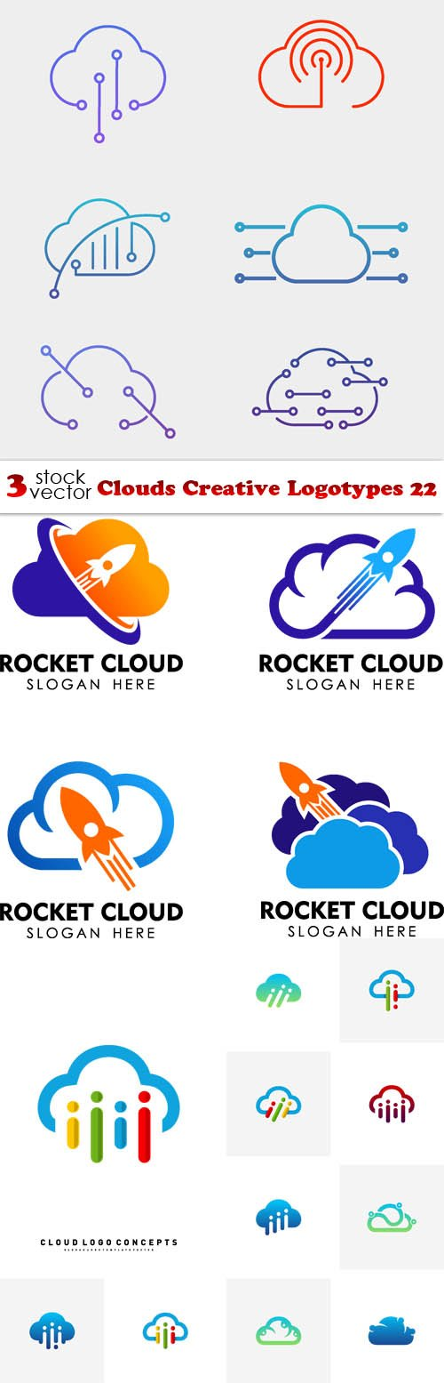 Vectors - Clouds Creative Logotypes 22