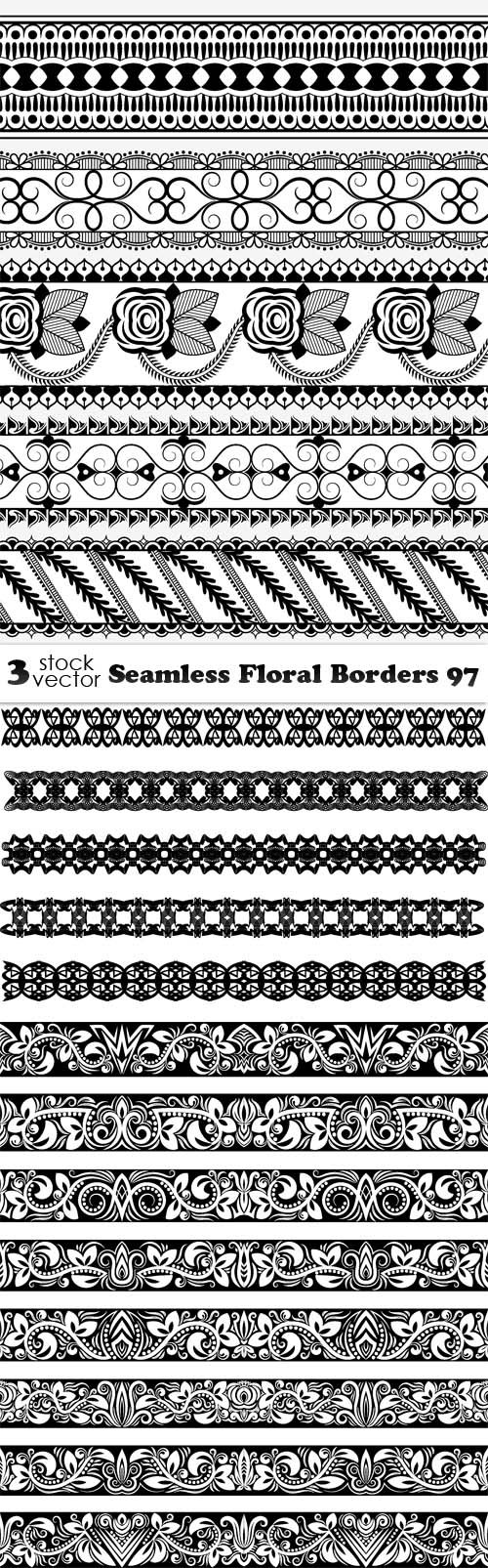Vectors - Seamless Floral Borders 97