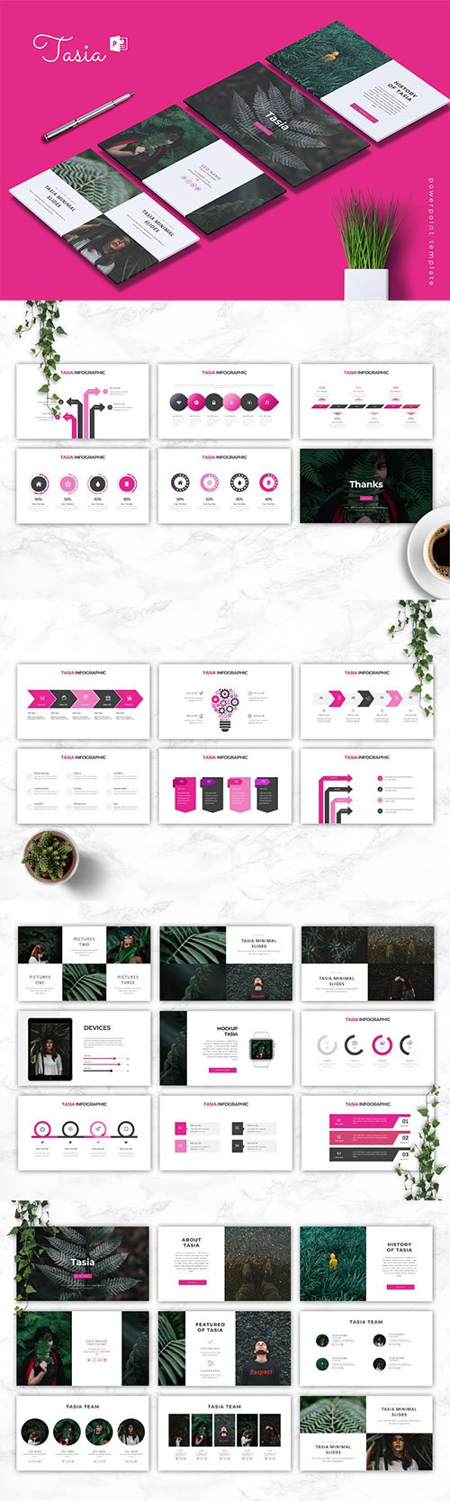 TASIA - Company Profile Powerpoint, Keynote and Google Slides Templates