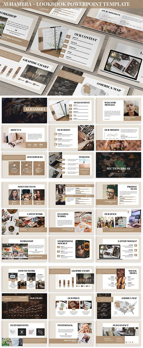 Alhambra - Lookbook Powerpoint Template