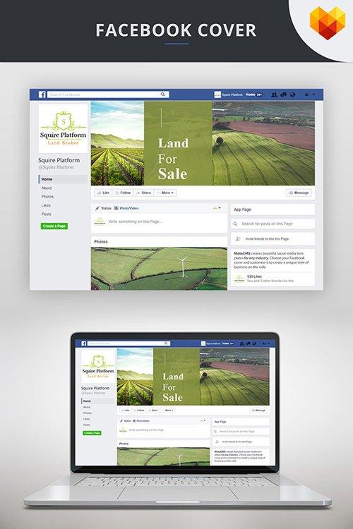Land Broker Facebook Timeline Cover Social Media