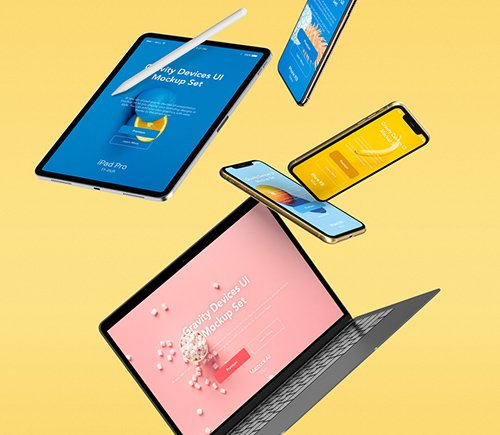 Gravity Devices UI Mockup Set v4