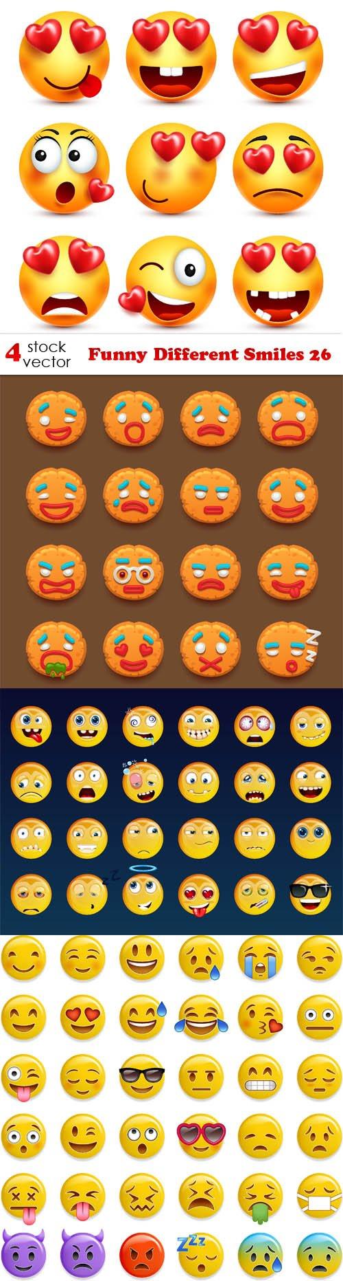 Vectors - Funny Different Smiles 26