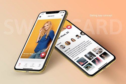 Swipe Card - Dating app concept