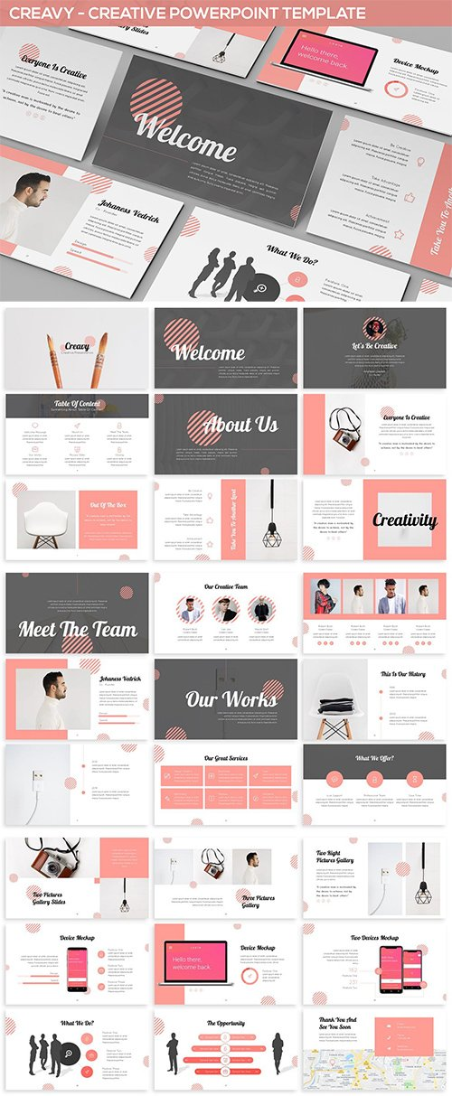 Creavy - Creative Powerpoint Template