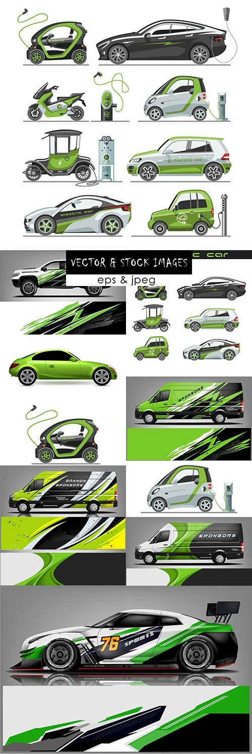 Ecological electric car and design car sport