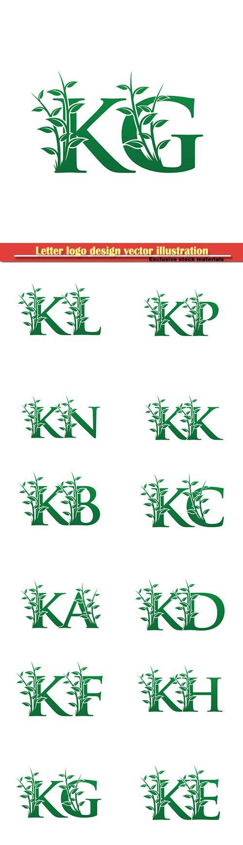 Letter logo design vector illustration template # 23