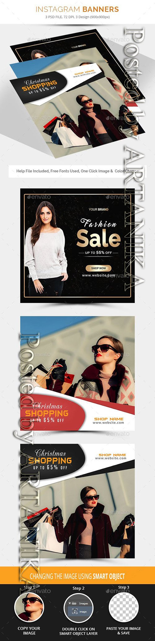 GraphicRiver - Sale Instagram Banners 21176303