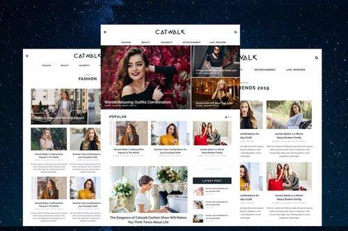 Catwalk - Fashion Blogger PSD Template