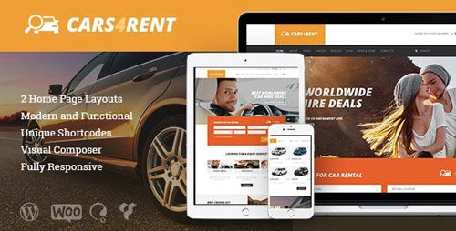 ThemeForest - Cars4Rent v1.2.1 - Car Rental & Taxi Service WordPress Theme - 19669503