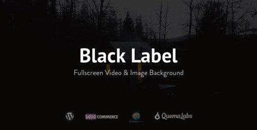 ThemeForest - Black Label v2.0.10 - Fullscreen Video & Image Background - 336949