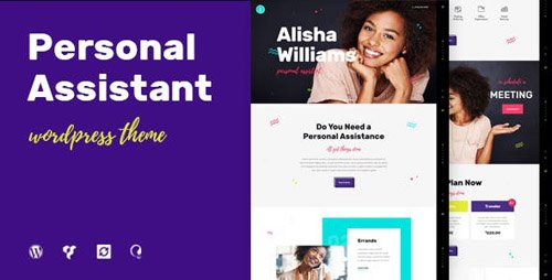 ThemeForest - A.Williams v1.2.1 - A Personal Assistant & Administrative Services WordPress Theme (Update: 26 March 19) - 20026268