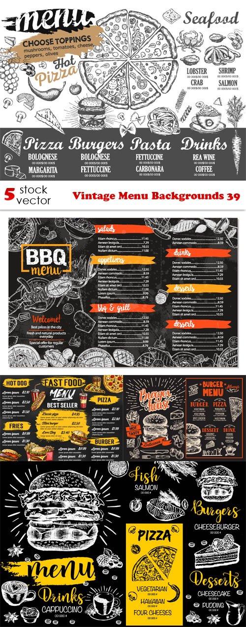Vectors - Vintage Menu Backgrounds 39
