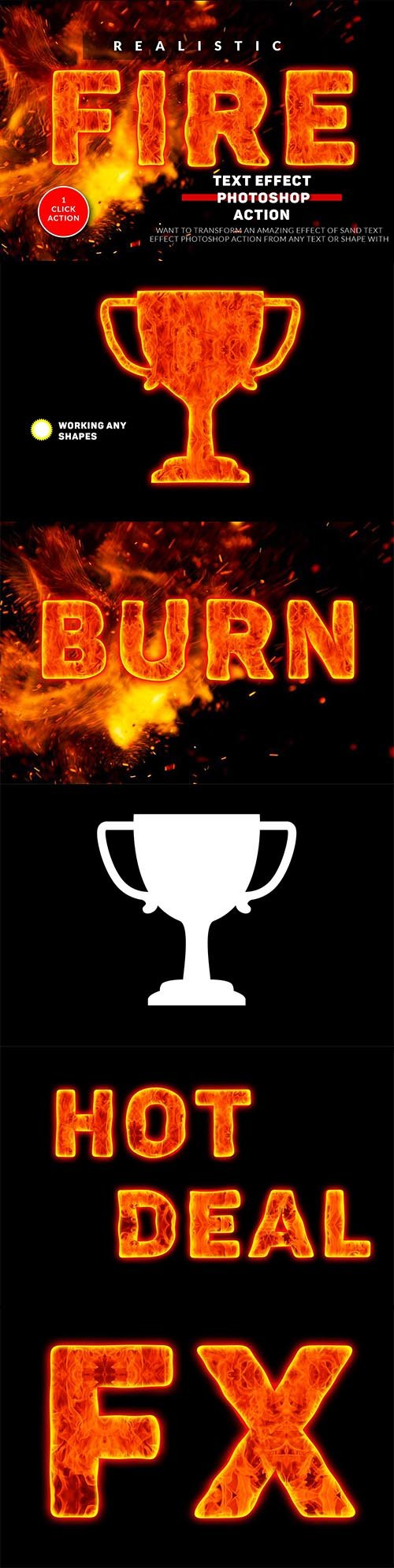 CreativeMarket - Fire Text Effect Photoshop Action 3594709
