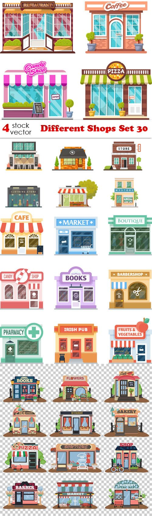 Vectors - Different Shops Set 30