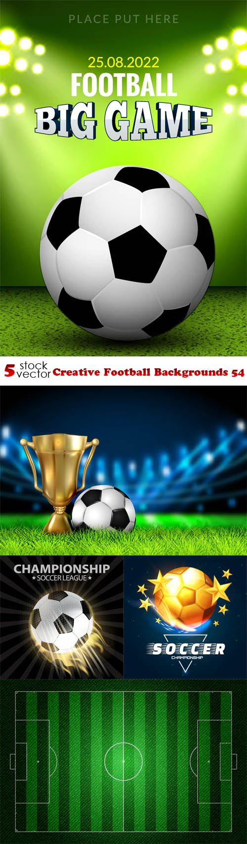 Vectors - Creative Football Backgrounds 54