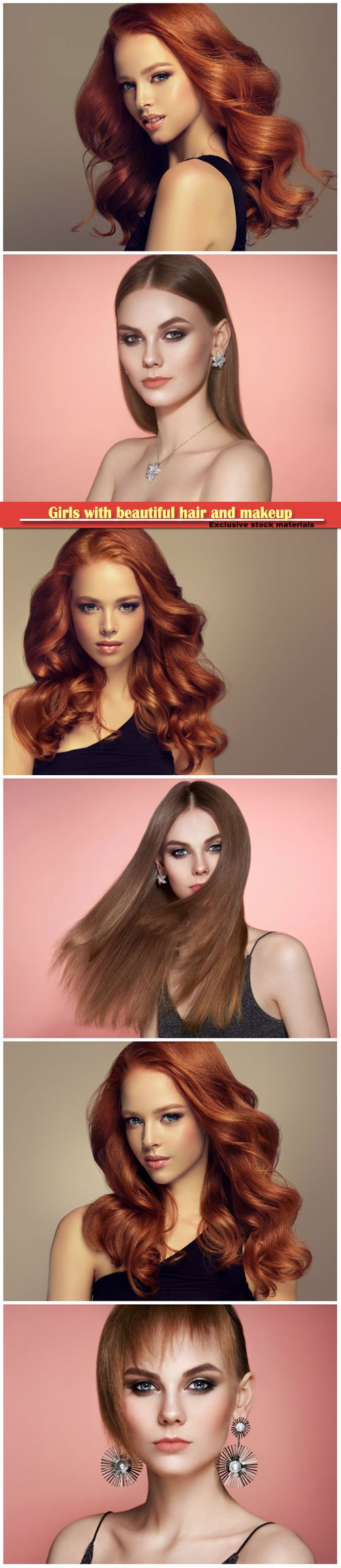 Girls with beautiful hair and makeup