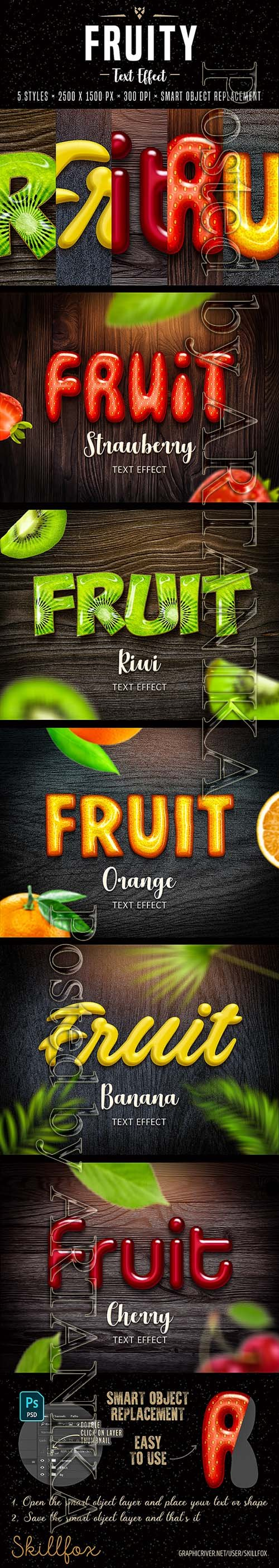GraphicRiver - Fruit Text Effects for Photoshop 22177922