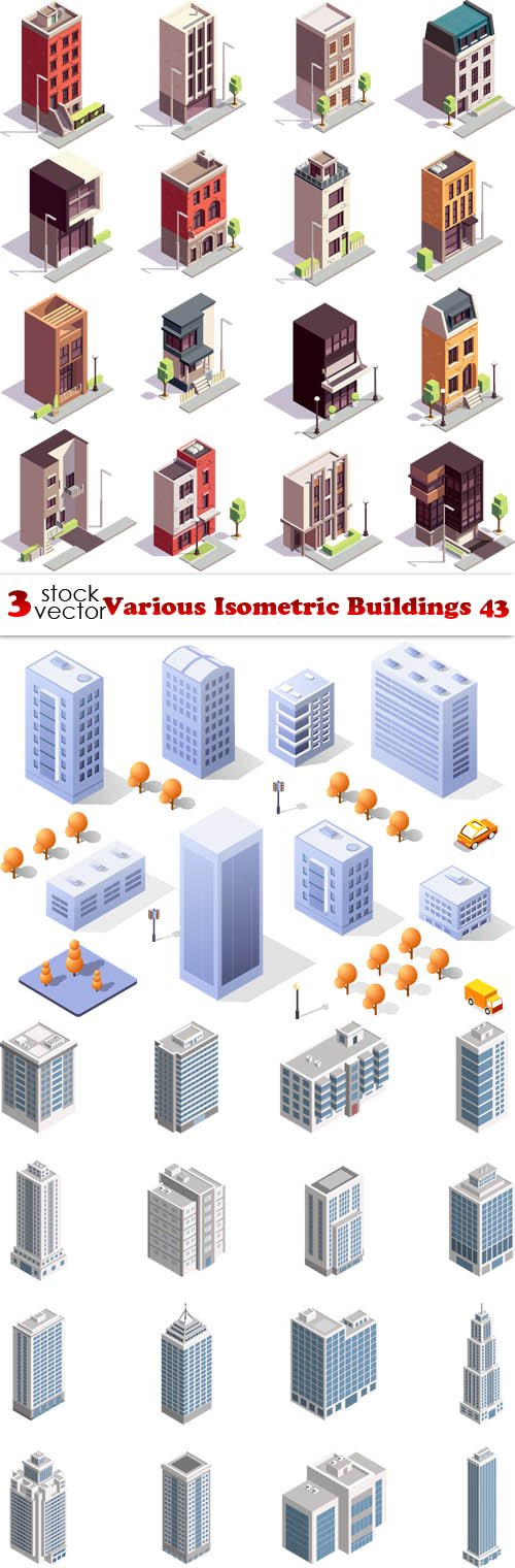 Vectors - Various Isometric Buildings 43