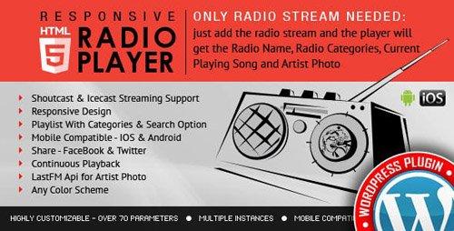 CodeCanyon - Radio Player Shoutcast & Icecast WordPress Plugin v2.3 - 9013963