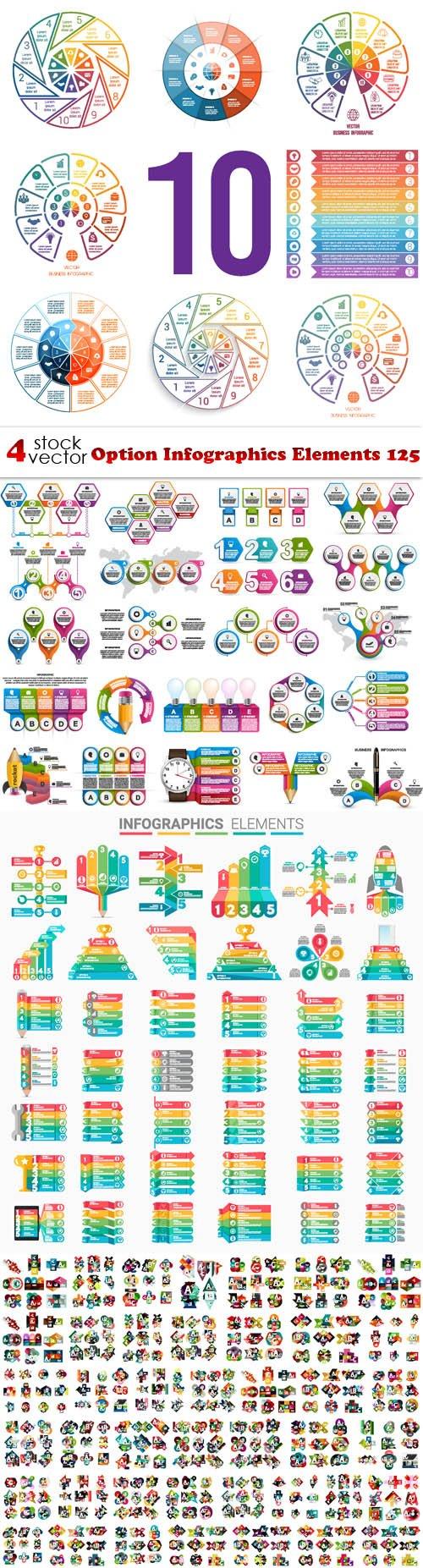 Vectors - Option Infographics Elements 125