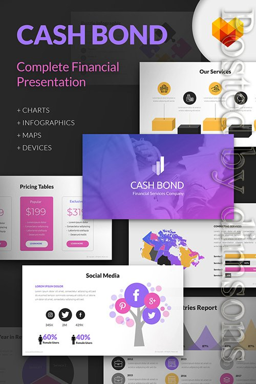 Cash Bond Financial Presentation Powerpoint Template