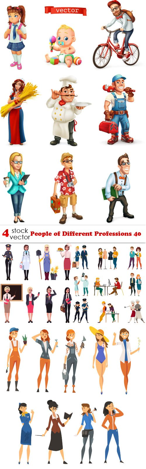 Vectors - People of Different Professions 40