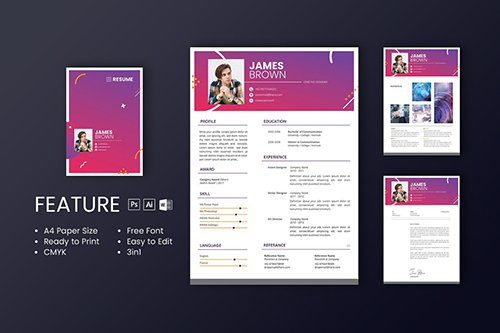 Professional CV And Resume Template James