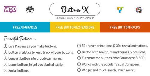 CodeCanyon - Buttons X v1.9.64 - Powerful Button Builder for WordPress - 12710619