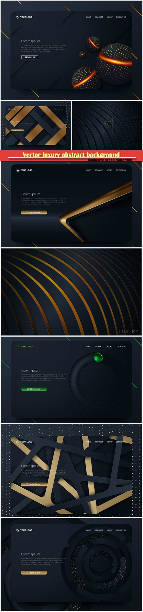 Vector luxury abstract background