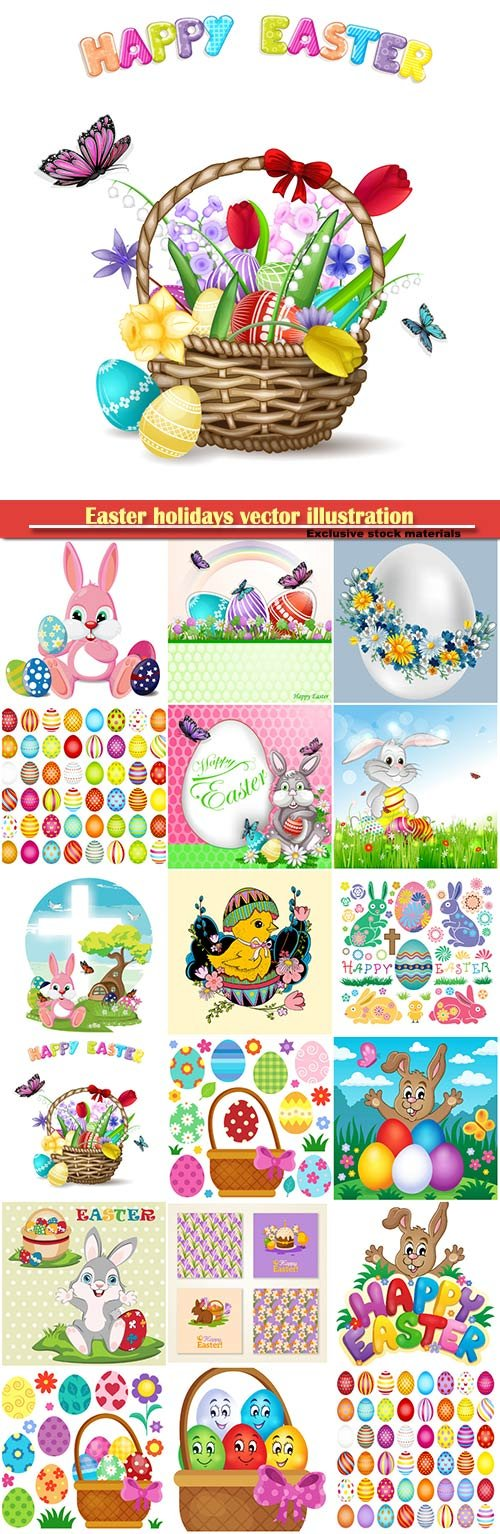 Easter holidays vector illustration # 2