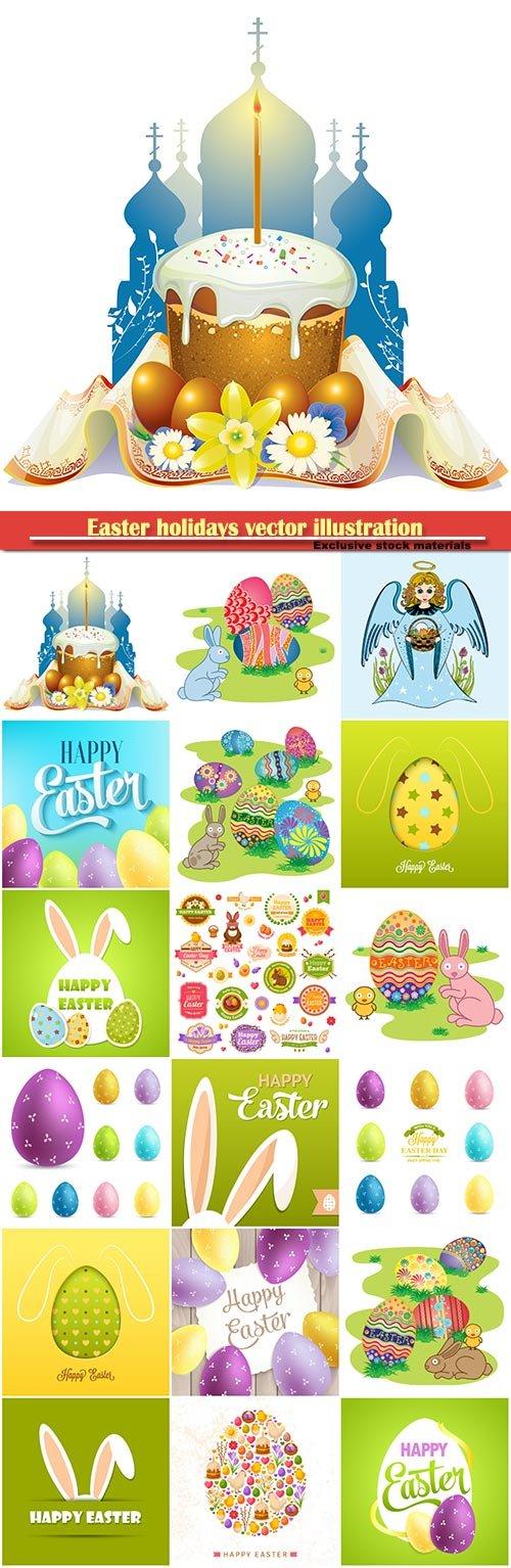 Easter holidays vector illustration # 3