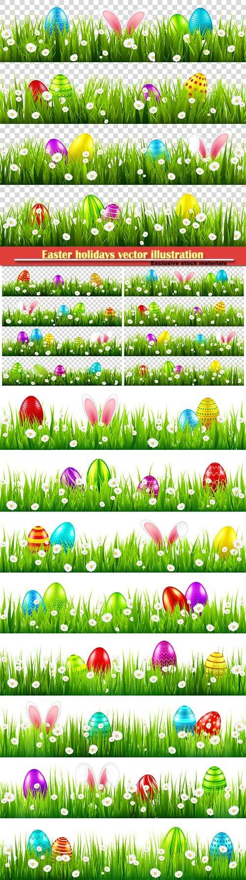 Easter holidays vector illustration