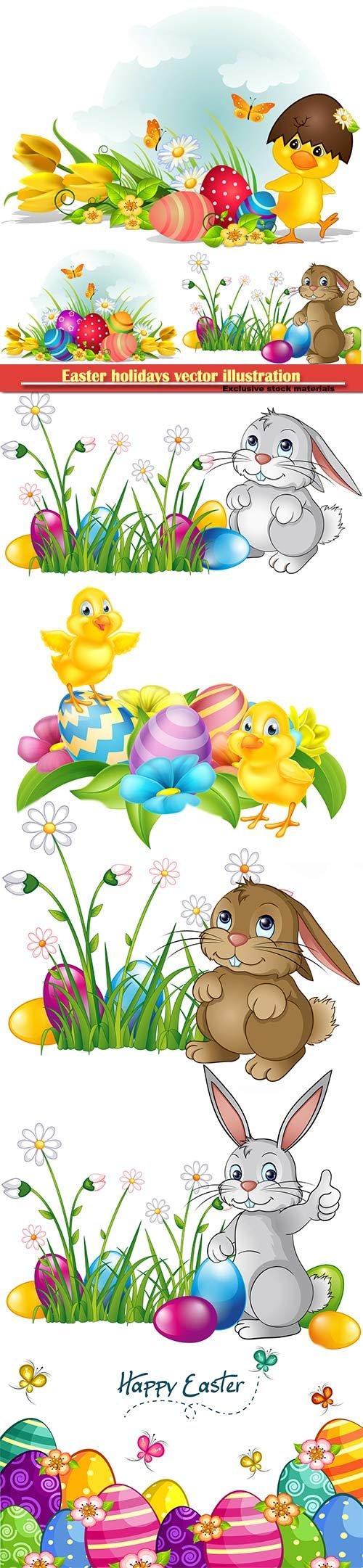 Easter holidays vector illustration # 5