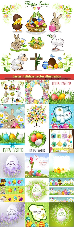 Easter holidays vector illustration # 8
