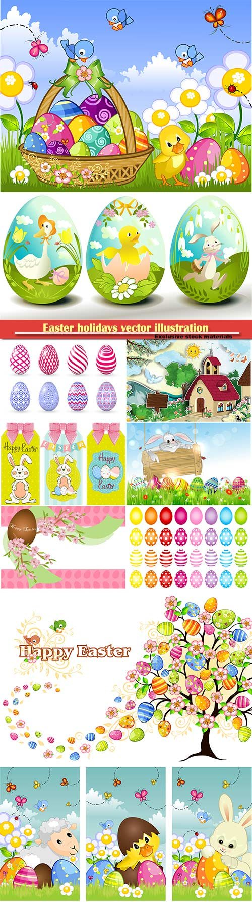 Easter holidays vector illustration # 10