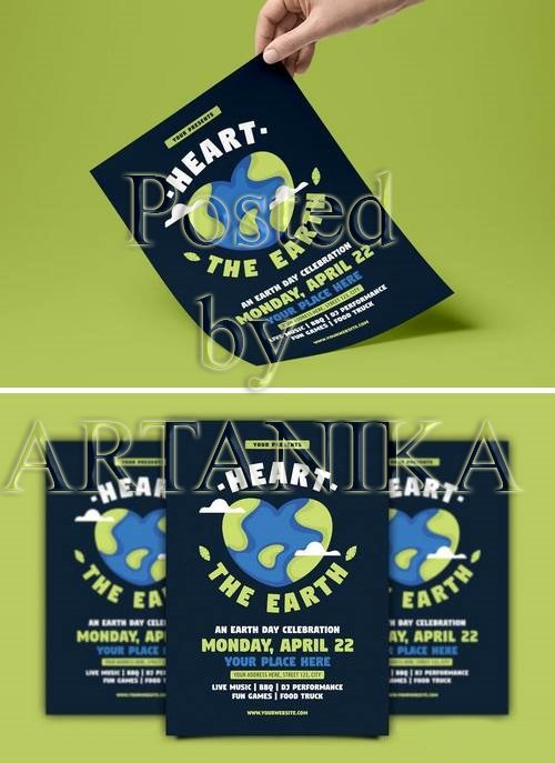 Heart the Earth ( Earth Day ) Flyer