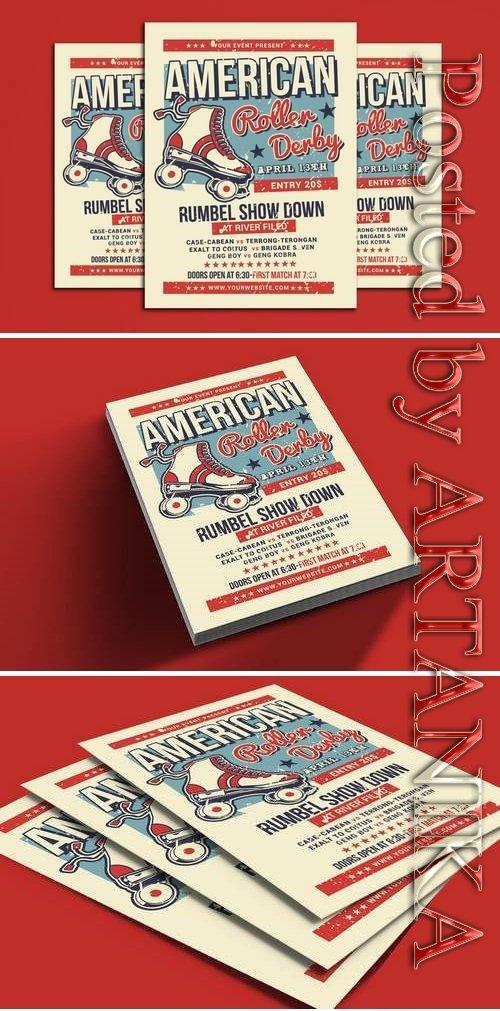 American Roller Derby Flyer Template