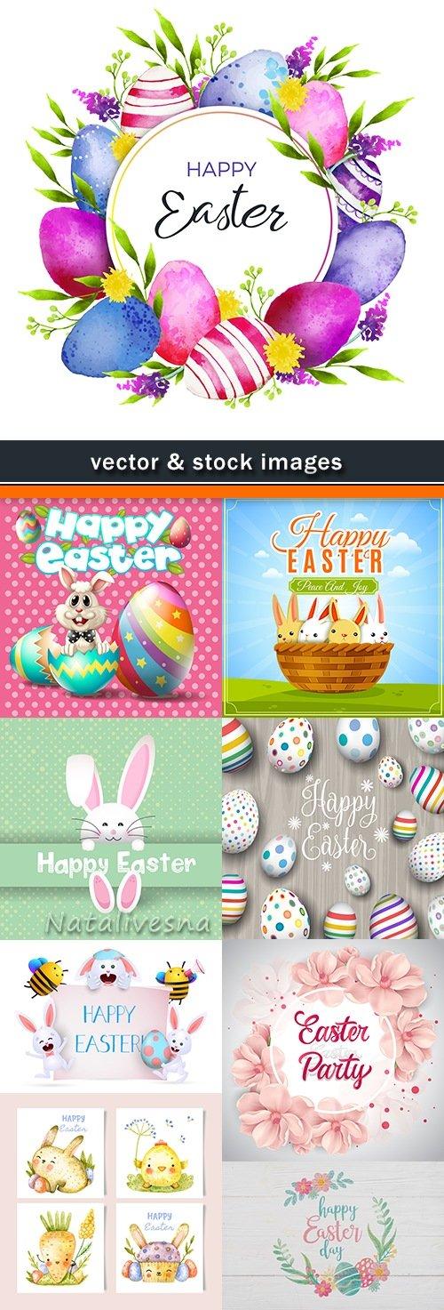 Happy Easter decorative illustration design elements 3