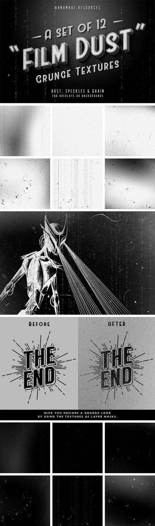 12 Film Dust Grunge Textures
