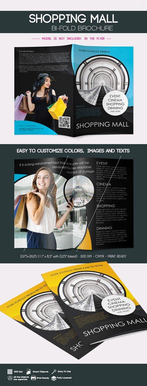 Shopping Mall Bi-Fold Brochure PSD Templates