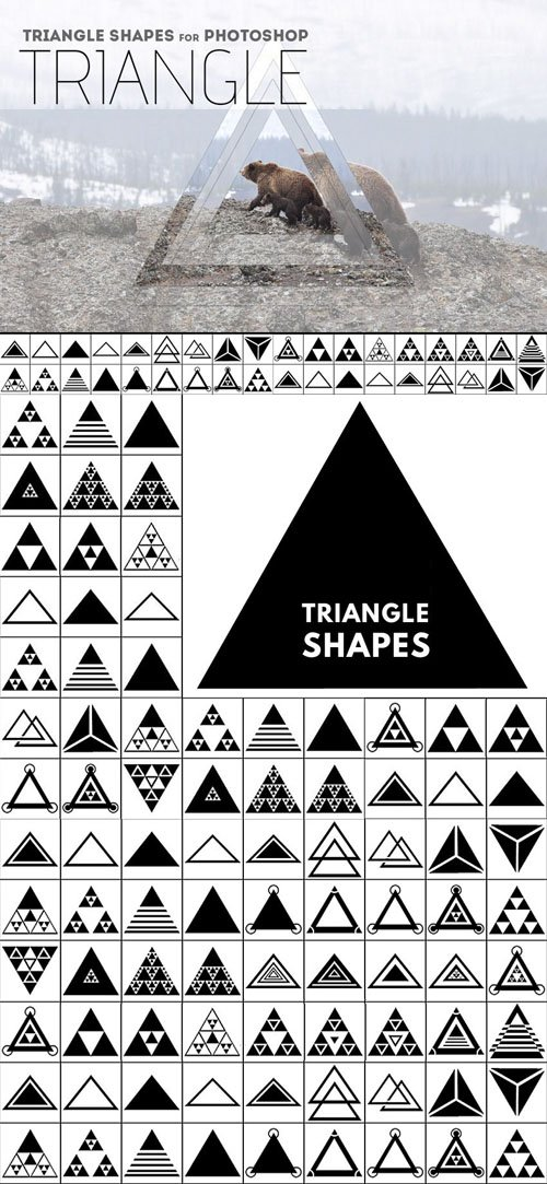 38 Triangle Shapes [CSH] for Photoshop