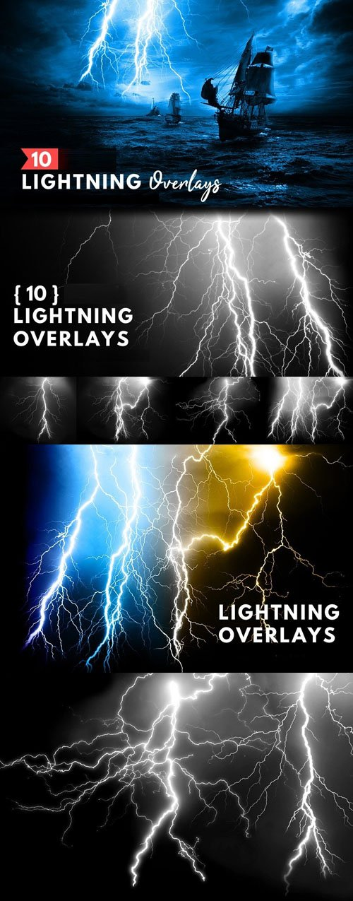 10 Lightning Overlays for Photoshop
