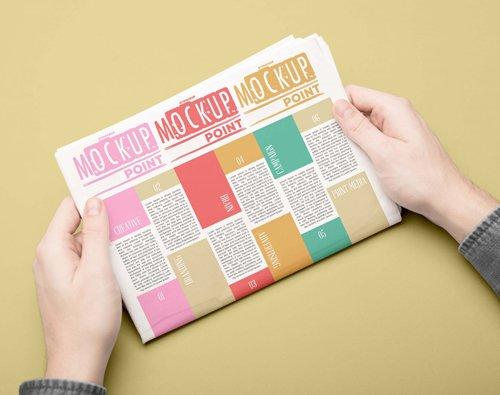 Newspaper Advertisement Design PSD Mockup