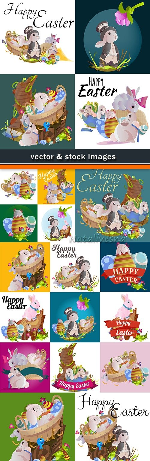 Happy Easter decorative illustration design elements 6